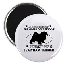 Sealyham Terrier dog funny designs Magnet