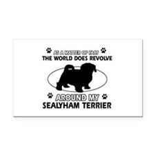 Sealyham Terrier dog funny designs Rectangle Car M