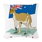 Australia Kangaroo Woven Throw Pillow