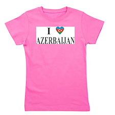 I Love Azerbaijan Girl's Tee