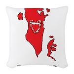 Map Of Bahrain Woven Throw Pillow