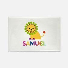 Samuel Loves Lions Rectangle Magnet