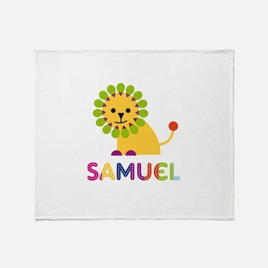 Samuel Loves Lions Throw Blanket