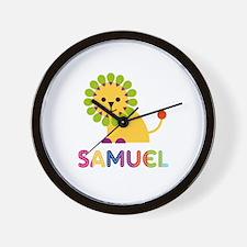 Samuel Loves Lions Wall Clock