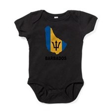 Map Of Barbados Baby Bodysuit
