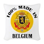 100% Made In Belgium Woven Throw Pillow