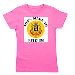 100% Made In Belgium Girl's Tee
