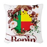 Butterfly Benin Woven Throw Pillow