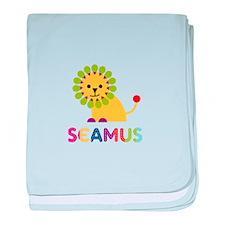 Seamus Loves Lions baby blanket