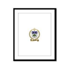 BREAULT Family Crest Framed Panel Print