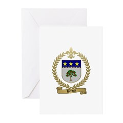 BREAULT Family Crest Greeting Cards (Pk of 10)