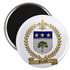 BREAULT Family Crest Magnet