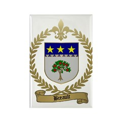 BREAULT Family Crest Rectangle Magnet (100 pack)