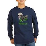 Nihilist Skull Long Sleeve Dark T-Shirt