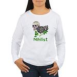 Nihilist Skull Women's Long Sleeve T-Shirt