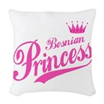 Bosnian Princess Woven Throw Pillow