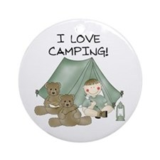 I Love Camping (Boy) Ornament (Round)
