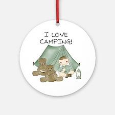 I Love Camping (Boy) Ornament (Round)