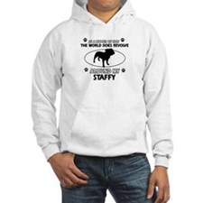 Staffy dog funny designs Jumper Hoody