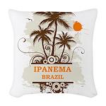 Ipanema Brazil Woven Throw Pillow