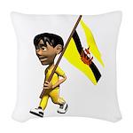 3D Brunei Woven Throw Pillow