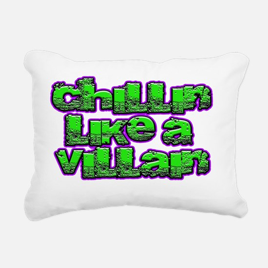 Funny Purple and black Rectangular Canvas Pillow