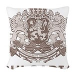 Vintage Bulgaria Woven Throw Pillow