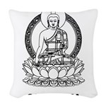 Cambodia Buddha Woven Throw Pillow