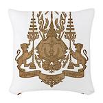 Vintage Cambodia Woven Throw Pillow