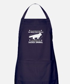 Sussex Spaniel dog funny designs Apron (dark)