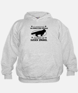 Sussex Spaniel dog funny designs Hoodie