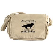 Sussex Spaniel dog funny designs Messenger Bag