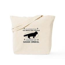 Sussex Spaniel dog funny designs Tote Bag