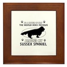 Sussex Spaniel dog funny designs Framed Tile