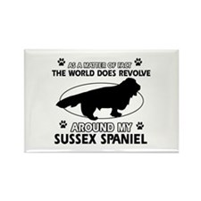 Sussex Spaniel dog funny designs Rectangle Magnet