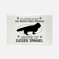 Sussex Spaniel dog funny designs Rectangle Magnet
