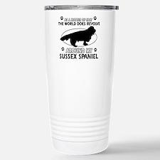 Sussex Spaniel dog funny designs Travel Mug