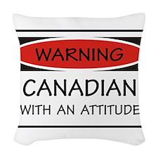 Attitude Canadian Woven Throw Pillow