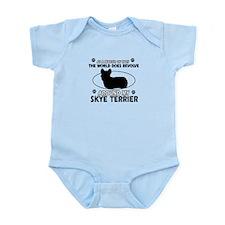 Skye Terrier dog funny designs Infant Bodysuit