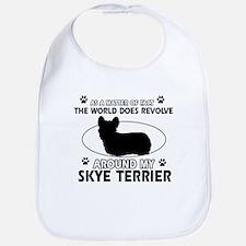 Skye Terrier dog funny designs Bib