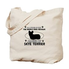 Skye Terrier dog funny designs Tote Bag
