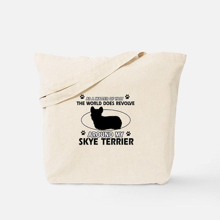 Skye Terrier dog funny designs Tote Bag