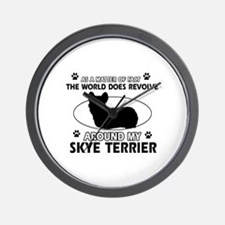 Skye Terrier dog funny designs Wall Clock