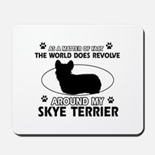 Skye Terrier dog funny designs Mousepad