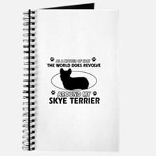 Skye Terrier dog funny designs Journal