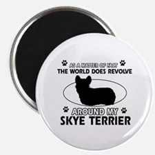 Skye Terrier dog funny designs Magnet