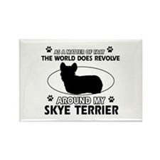 Skye Terrier dog funny designs Rectangle Magnet