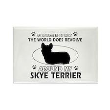 Skye Terrier dog funny designs Rectangle Magnet (1