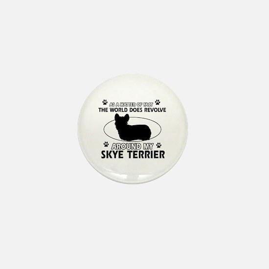 Skye Terrier dog funny designs Mini Button