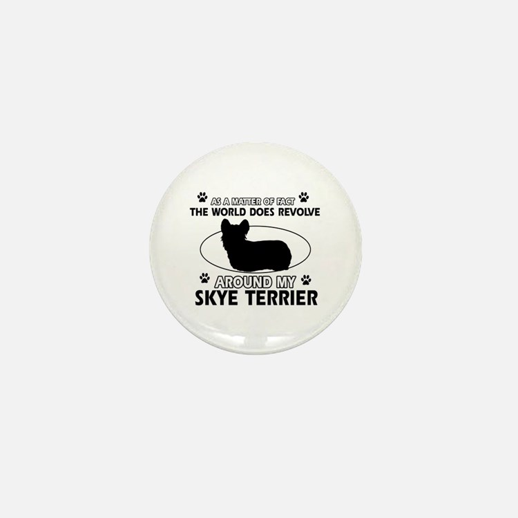 Skye Terrier dog funny designs Mini Button